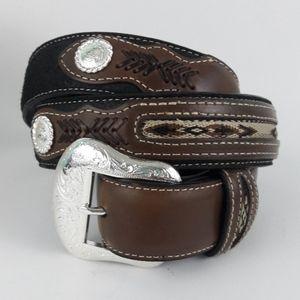 Mens Nocona Western Leather Belt Size 40